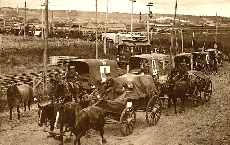 Horse drawn field ambulances