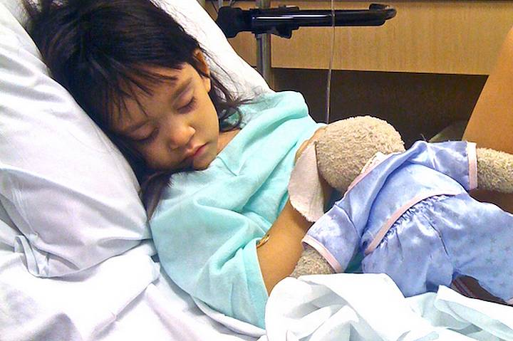 Child in post surgical care